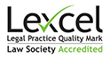 Lexcel Law Society Accredited logo